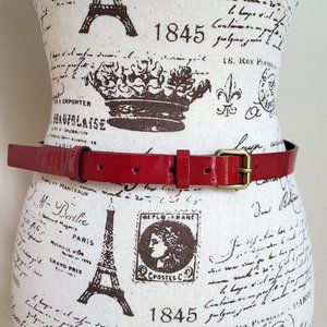 Boden Women's Burgundy Patent Leather Fall Belt